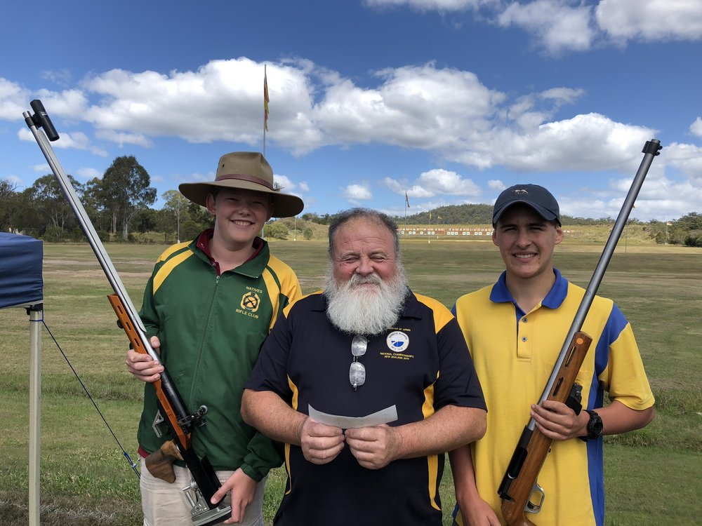 Josh Pratt (L), BMRC Master at Arms Rod Reeves and Sebastian Hopkins (R)
