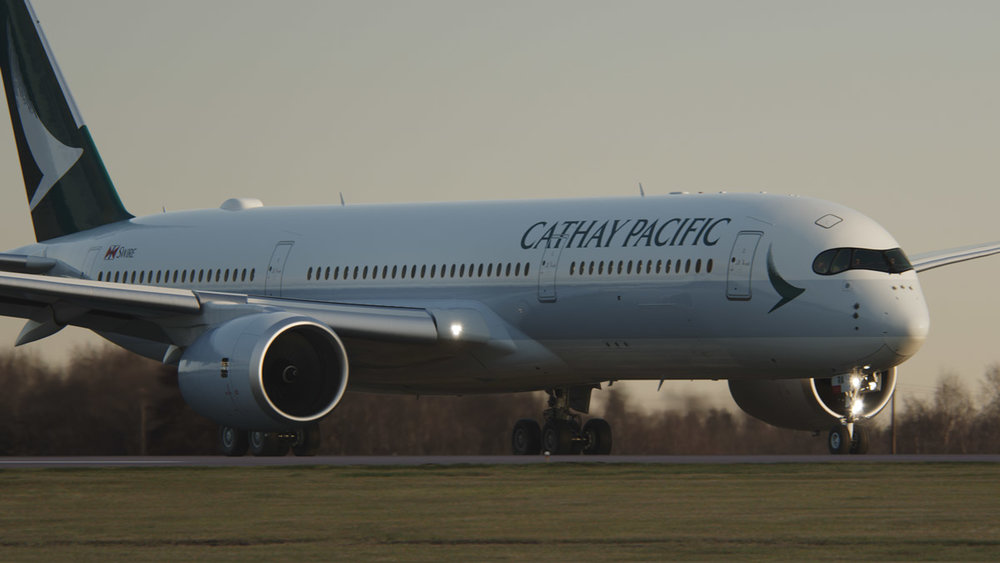 Cathay Pacific's new A350-900 which flies daily from Brisbane to Hong Kong (Source: Cathay Pacific)