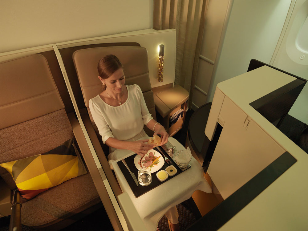 Etihad's excellent Business Studio cabin on their A380 and 787