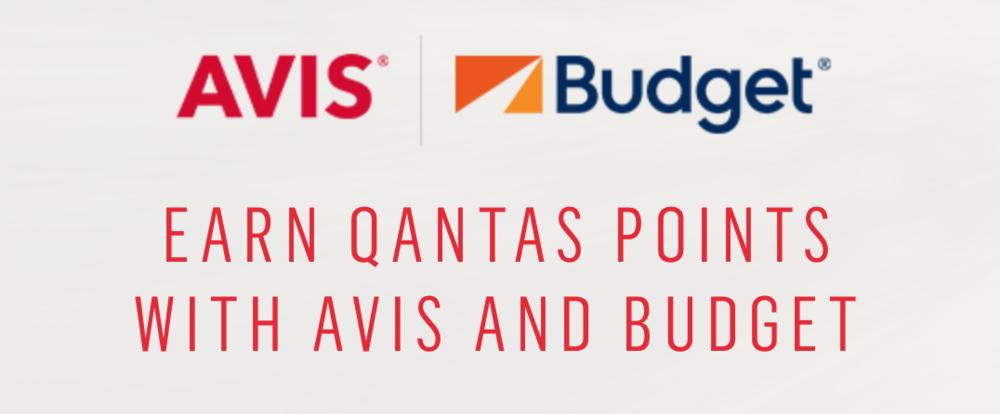 Earn Qantas Points with Avis or Budget car rental