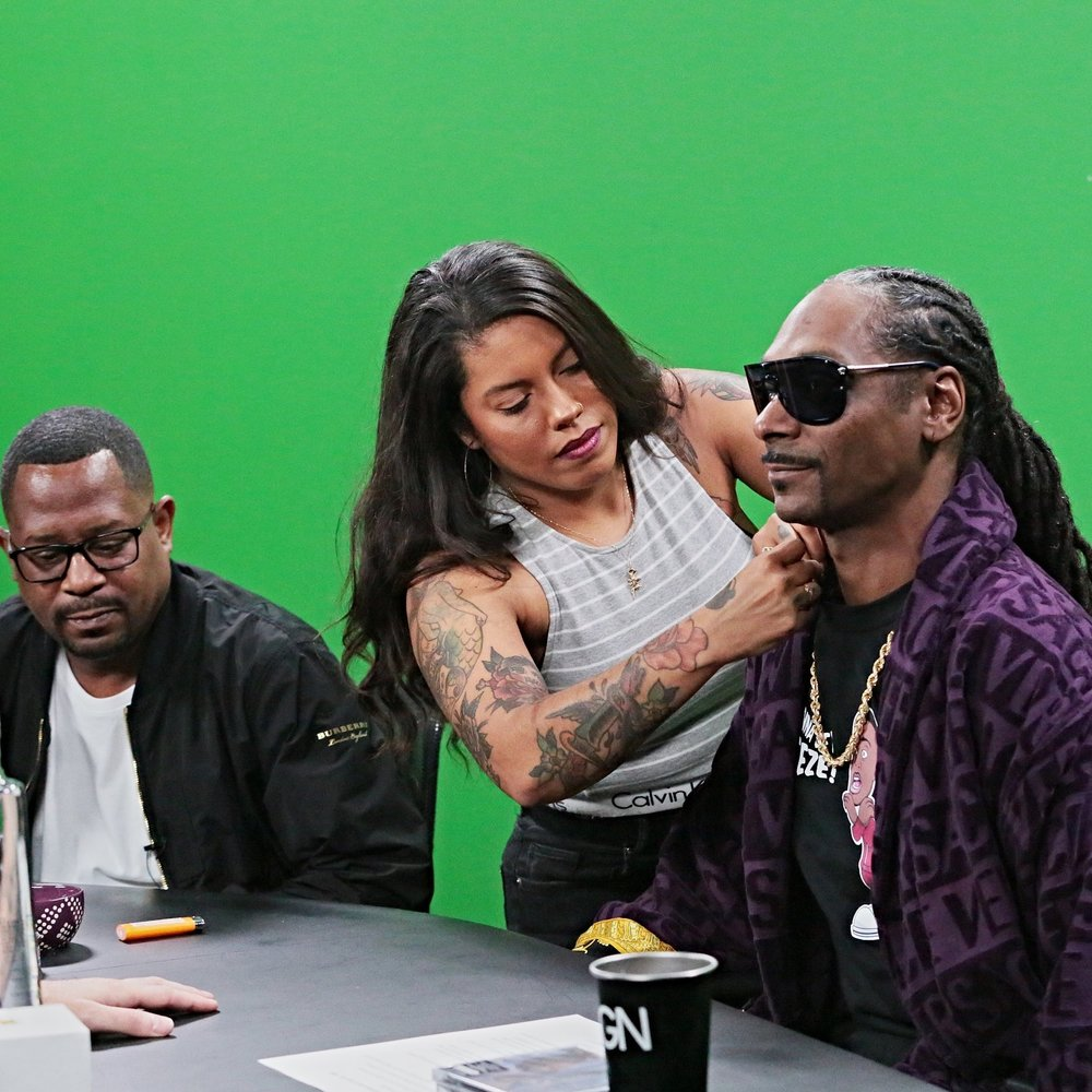 Fixing Snoop's mic with GGN guest Martin Lawrence