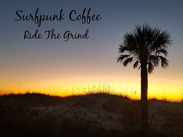 Good morning from us at Surfpunk Coffee and Tybee Island. We all hope you have a rad Tuesday and can drink good coffee. #surfpunkcoffee #surfpunk #coffee #surf #skate #wakeskate #wakesurf #skimboarding #bodysurfing #bodyboard #kayak #paddleordie #bmx #coffeetime #coffeeporn #coffeemug #diy #roaster #smallbusiness #coffeeroaster #tybeeisland #sunrise #palmtree #goodmorning