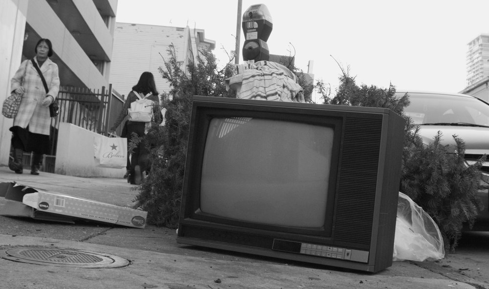 TV on sidewalk