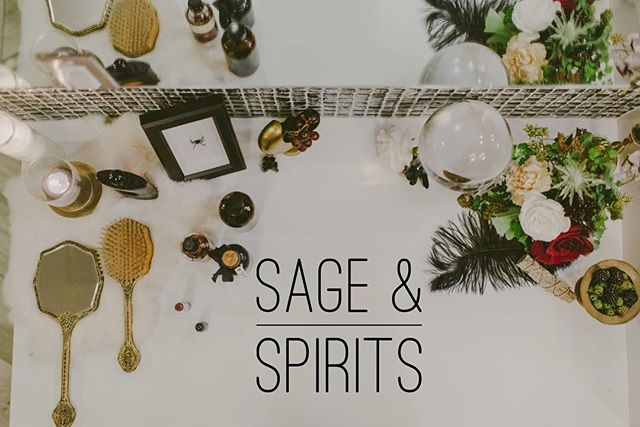 Sunday from 1-4 come join us for Sage & Spirits workshop at @smokeandbrinewarehouse 🖤🔮 link in profile!
