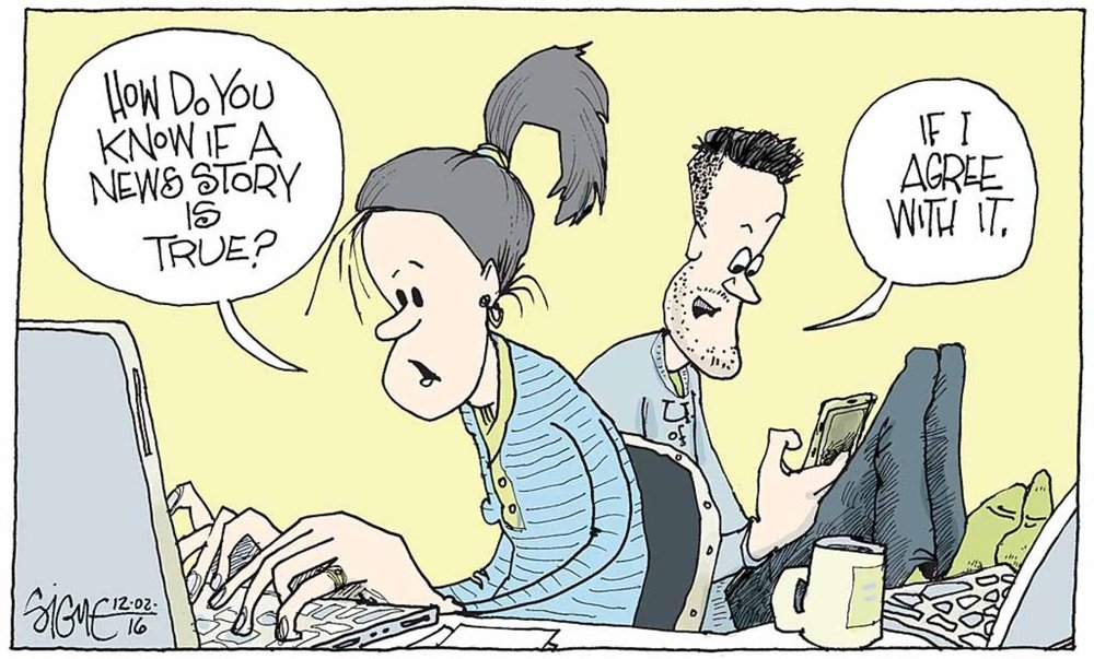 Comic by Signe Wilkinson of the  Philadelphia Inquirer .