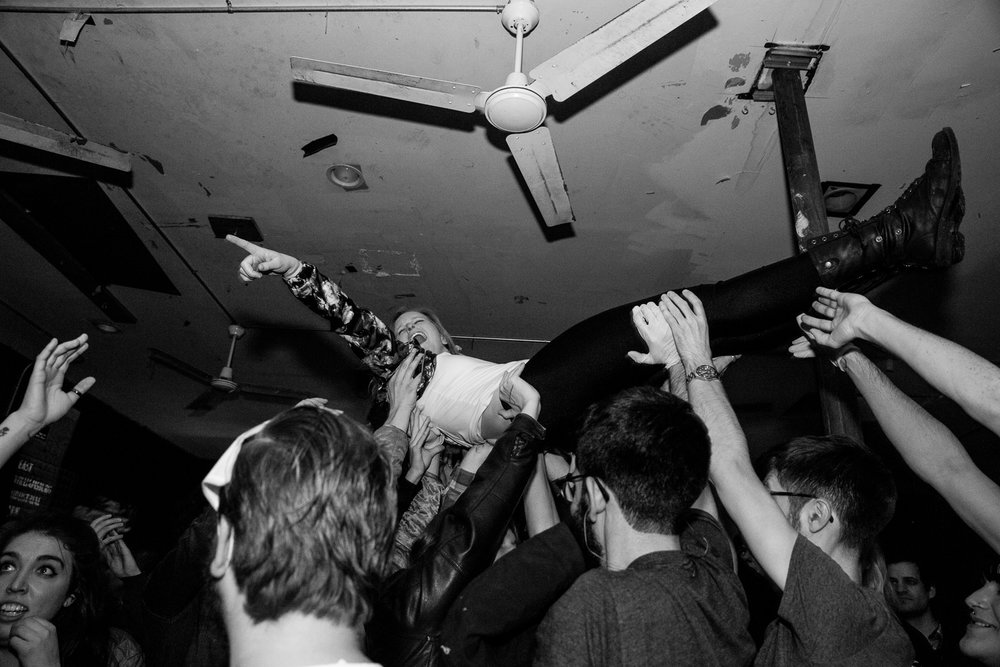 Crowdsurfing during The Mad Doctors