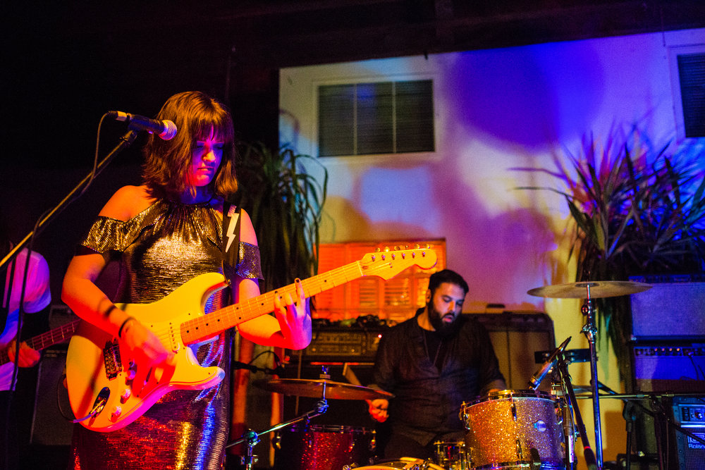 No Honeymoon brings their shimmery rock 'n' roll to The Gutter on Friday night. Photo: Jeanette D. Moses