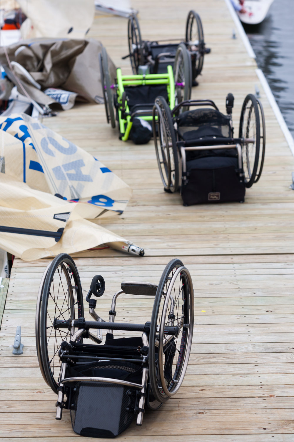 Gone sailing wheel chairs on dock credit Thornton Cohen.jpg