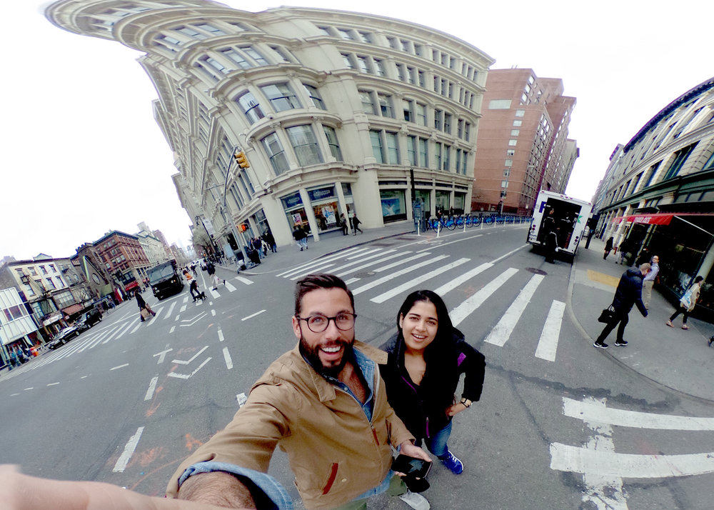 David and I testing the Reco Theta 360 camera
