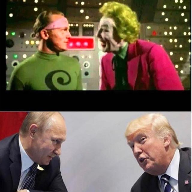 Cunning meets chaos. #trump #putin #respectablebusinessmen