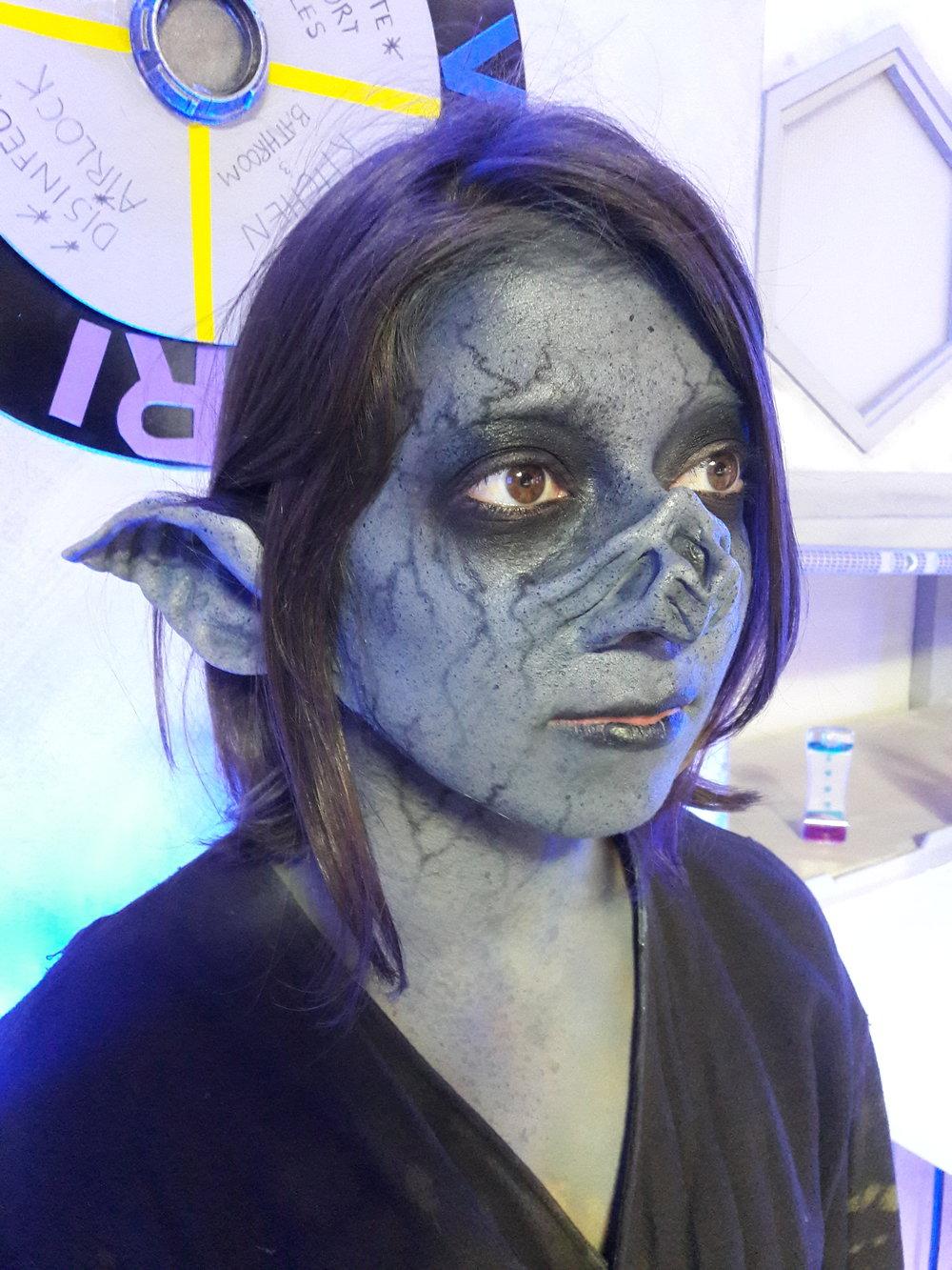 Miss 2059- Season 2, 2017  Vortex Stunt Alien Makeup Department Head: Michelle Miller SFX Supervisor: Jim Ojala Actress: Thekla Hutyrova