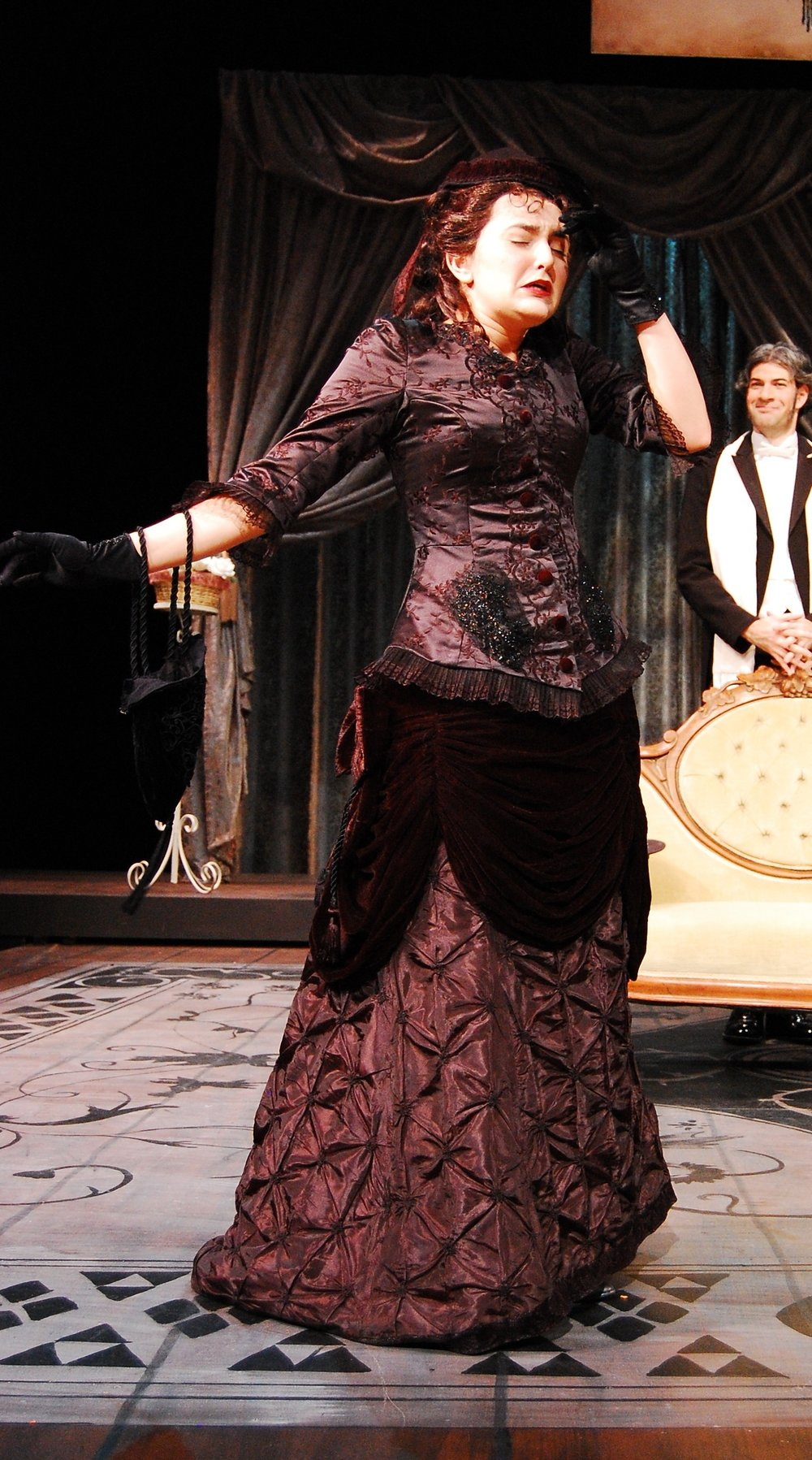 Engaged, 2010  San Francisco State University  Director: Bill Peters  Costume Designer: Sarah Correa  Photographer: Clyde Sheets  Blouse and Skirt constructed from scratch