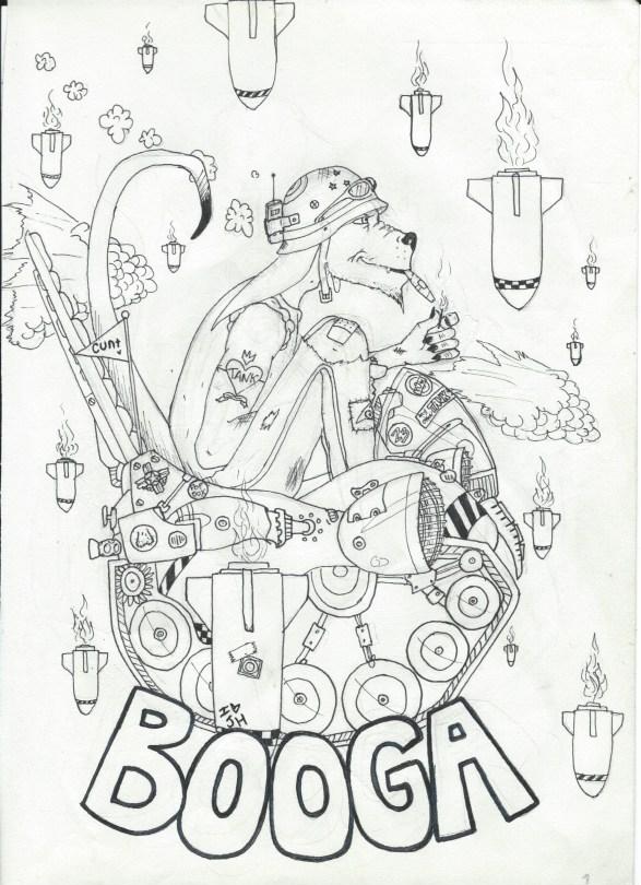 Tank Girl Coloring Book: Booga Full, 2015