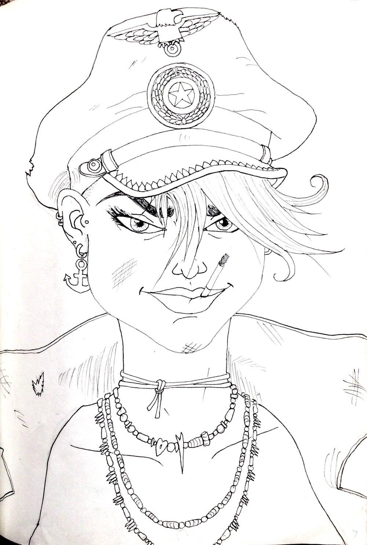 Tank Girl Coloring Book: Sub Girl Portrait, 2015