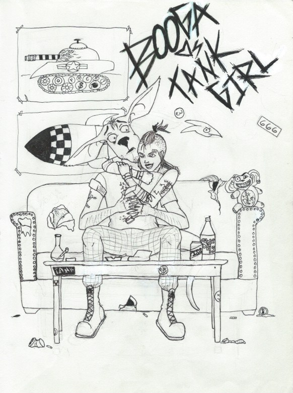 Tank Girl Coloring Book: Booga Loves Tank Girl, 2015