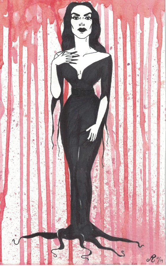 Vampira, 2014  Watercolor and ink on paper
