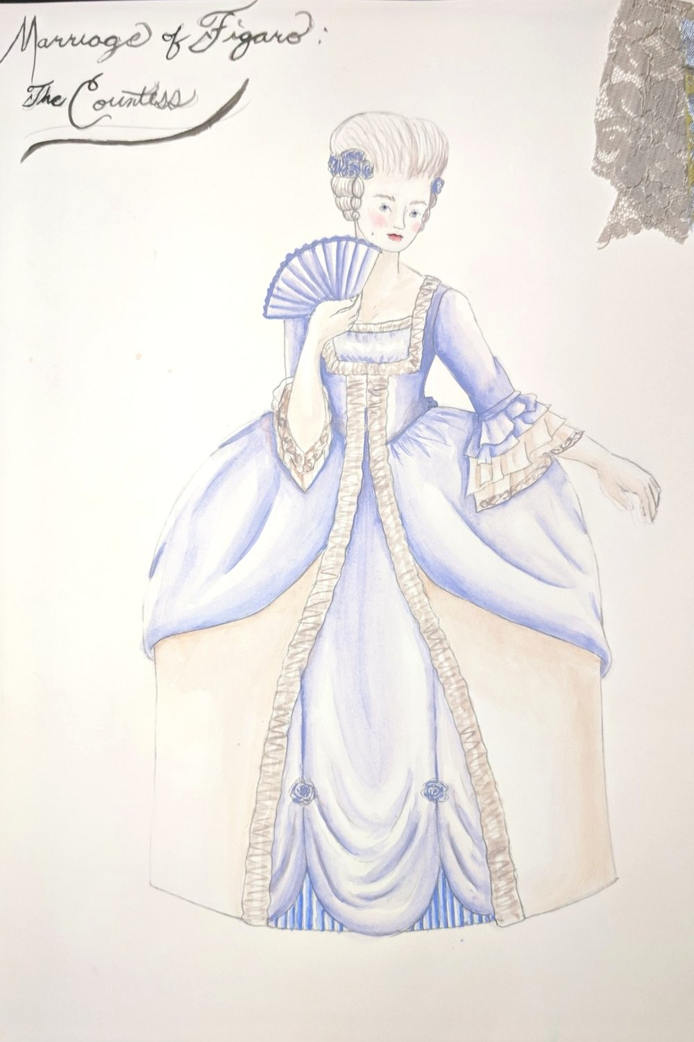 San Francisco State University, 2011  THA411 Costume Design for Stage and Screen    Marriage of Figaro