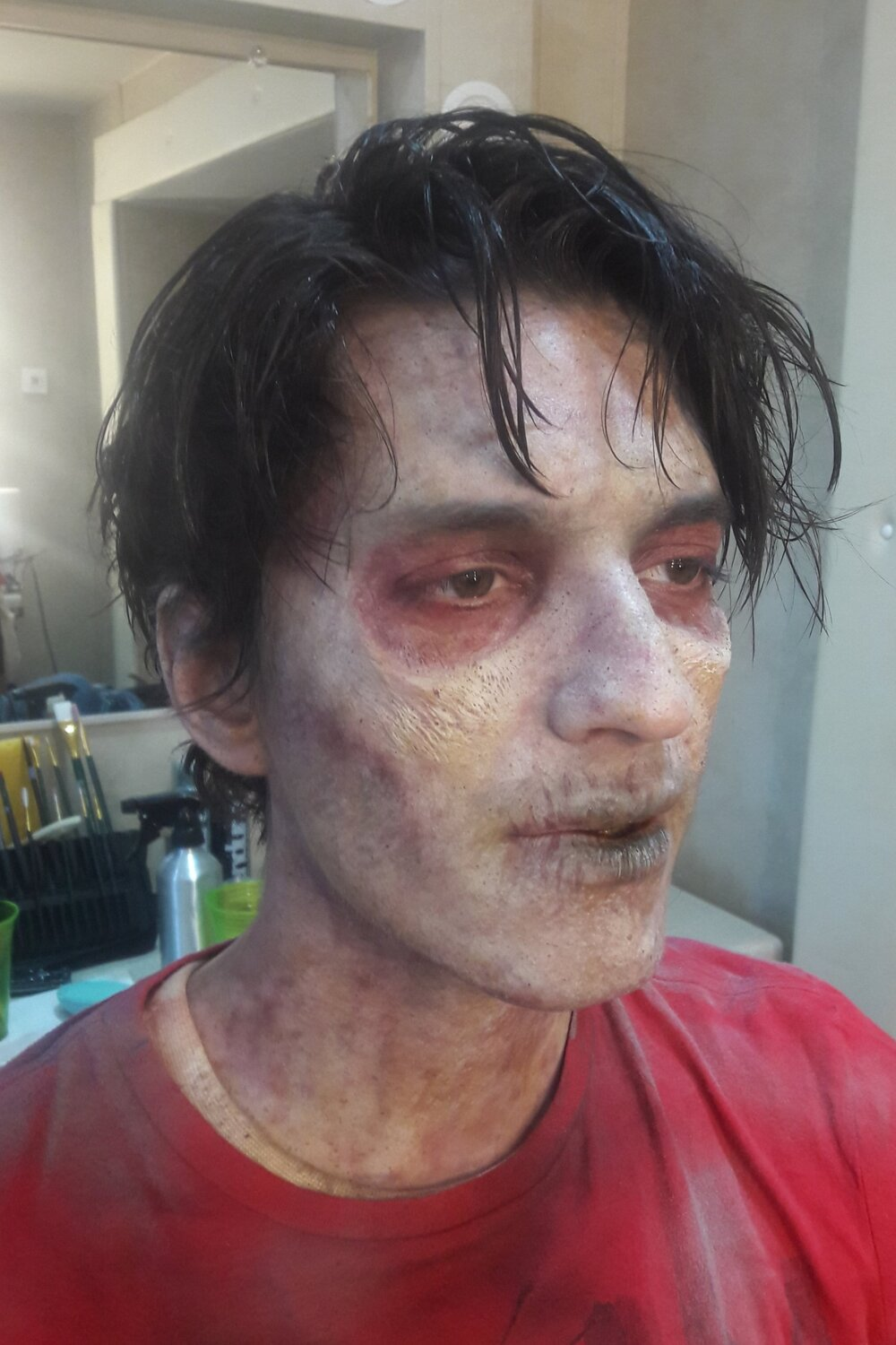 Fight of the Living Dead- Season 2, 2017  Production Company: YouTube Red & The Alpine Labs  SFX Makeup Dept. Head: Tommy Pietch  Makeup Provided by: EBA Performance Makeup