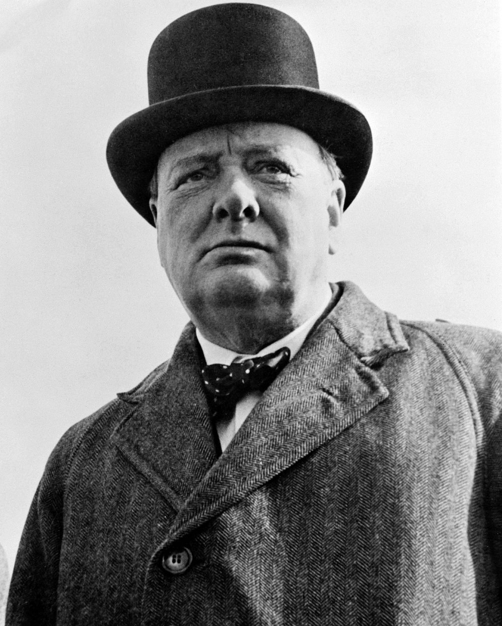 Winston Churchill, the British prime minister during World War II, was able to successfully end the war with a preposition.