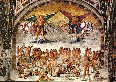 Luca Signorelli's  The Resurrection of the Flesh (c. 1500)