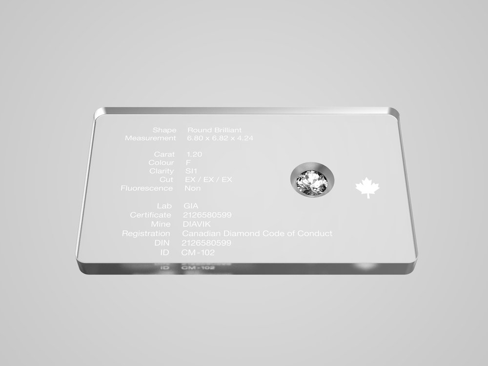 Vantyghem Diamonds - Diamond Authentication Plate System