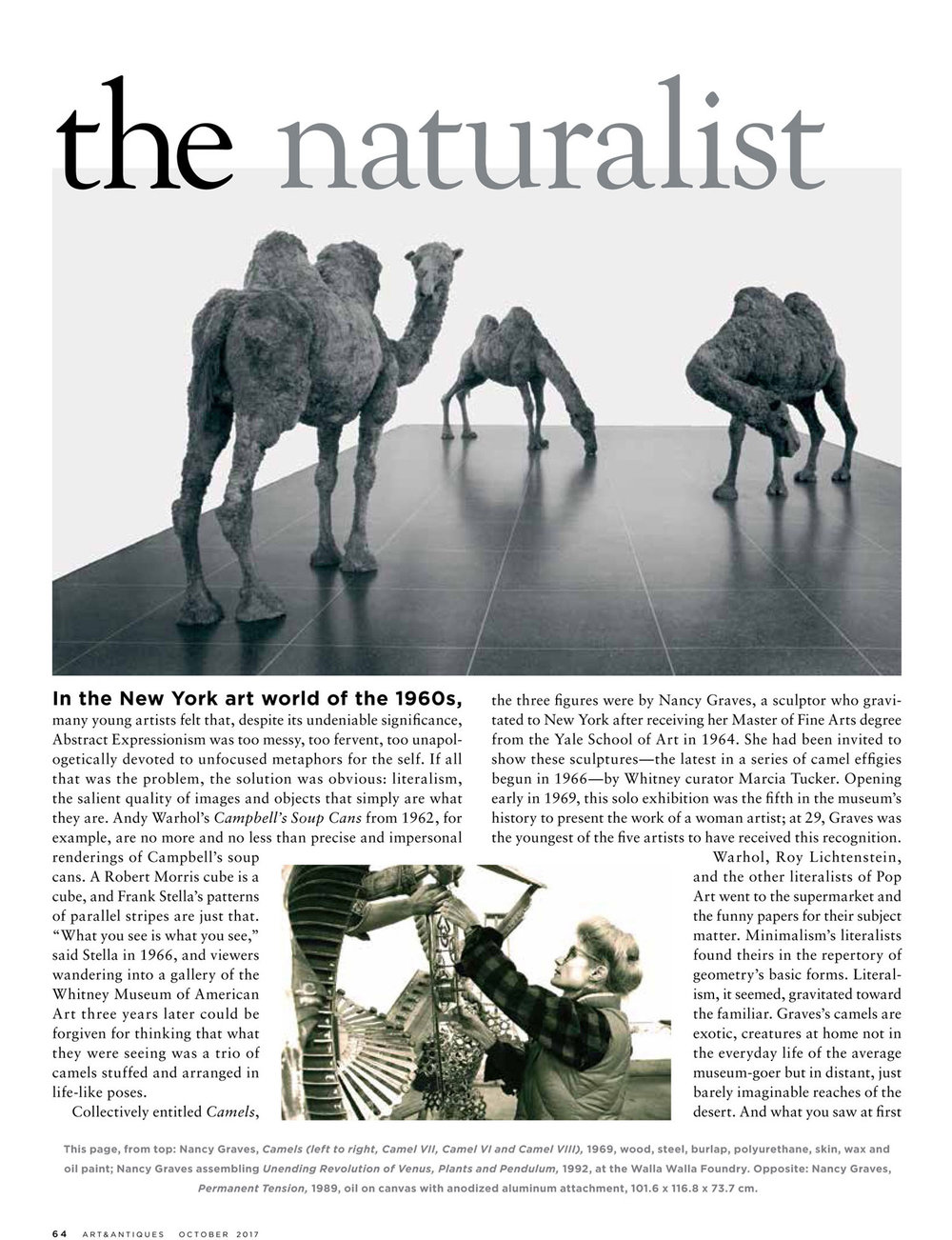 The Naturalist , by Carter Ratcliff, Art & Antiques, October 2017