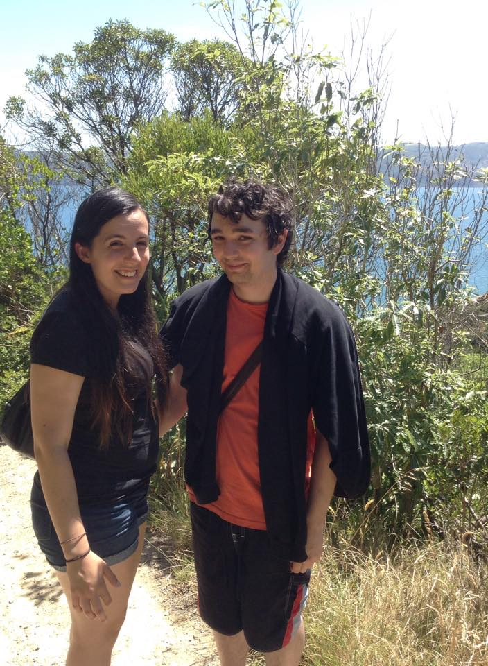 Josie & partner Alex spending time together on a hike.