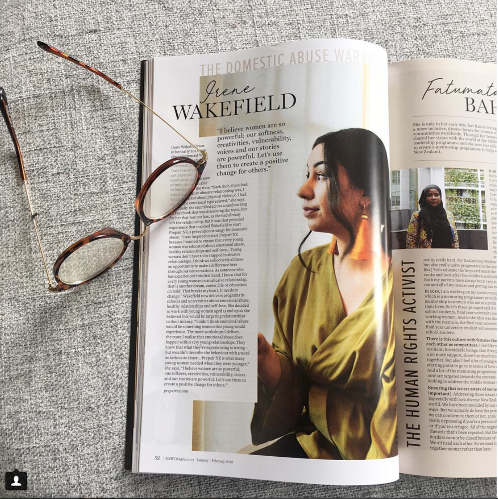 "M2woman Magazine  ( January / February 2018 )  ""I believe women are so powerful; our softness, creativities, vulnerability, voices an stories are powerful. Let's use them to create a positive change for others."" Our CEO Irene Wakefield is acknowledged by M2woman magazine as one of 18 Inspiring NZ women creating change in 2018.   Read More"