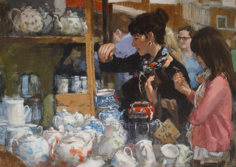 "Portobello Road     18x24""    oil  ROI Annual Show 2014, Phyllis Roberts Award winner"