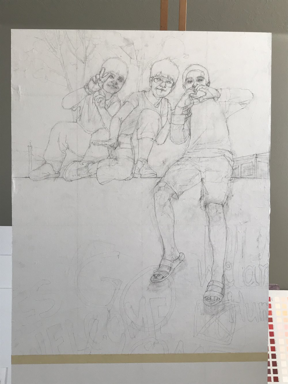 drawing on the final canvas