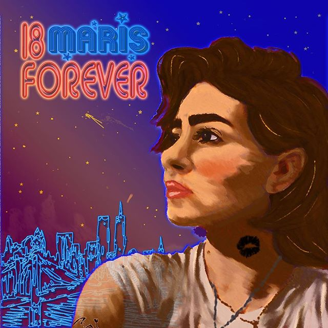 18 FOREVER IS OUT! SPOTIFY LINK IN BIO, ADD IT TO YOUR DANCING PLAYLISTS AND TELL UR FRIENDS!  here's the cover art i made that is filled with allusions to the tune. thank you so much @thejoeydoherty for producing this tune and helping me bring it to life. thank you to everyone who has been with me this year being 18, it's been infinity in a moment.  most of all, thank you for sharing this moment with me. i'd be doing it without y'all listening, but it's so much better with you here to tell my story to.  i'm turning 19 on sunday and have a quiet hope that it'll be a good trip around. this one was tough, but i'm grateful for what it taught me. thank you.