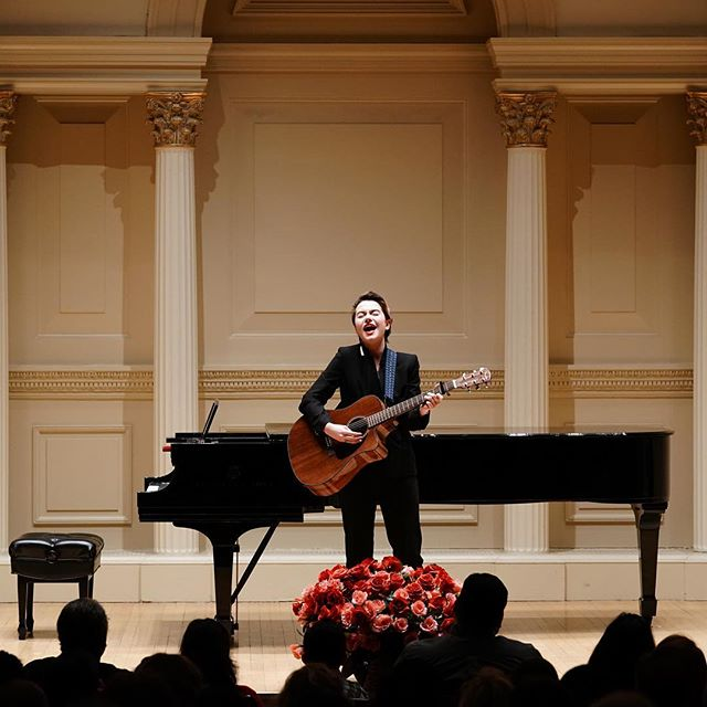 i turned 19 today! I am immensely grateful for everything 18 has brought me, and i want to thank y'all for being apart of that journey. this moment was one of my proudest. i played a song i had written at Carnegie Hall and got to see my mom and my stepdad glowing proud in the audience.  i hope this year i continue to make the people i love proud. i hope i continue to create things that make me proud. i hope i can continue to do really cool shit like this. thank you for so much love on 18 Forever, keep streaming and sharing and adding to playlists. it helps the independent little guys like me do really cool shit like play their original music at fucking carnegie hall. i can't wait to see what this year brings. i can't thank y'all enough.
