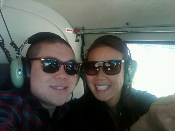 Andrew's Valentine's Day helicopter ride in 2011 or 2012!