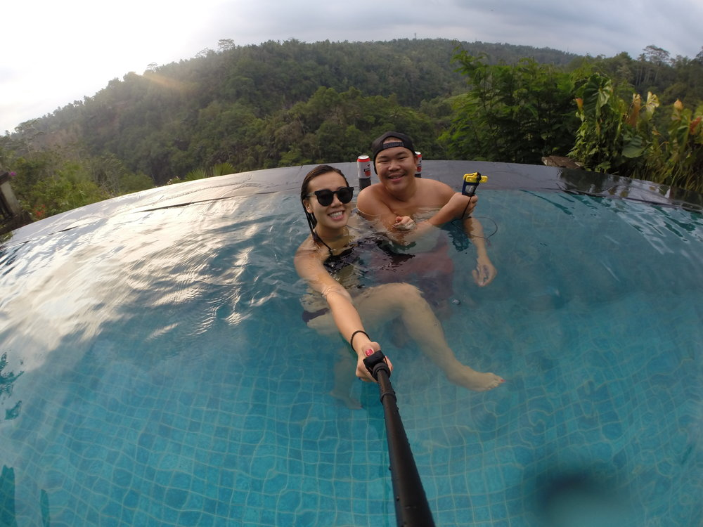 Pool selfie stick time in Bali 2014!