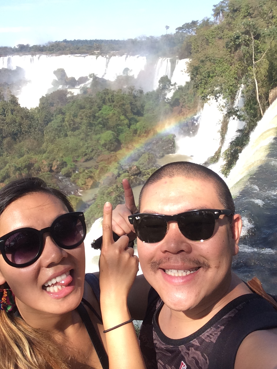 Rainbows at Iguazu Falls 2015
