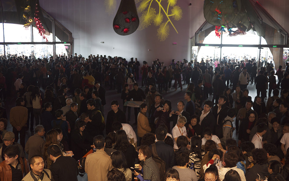 Great story has to be flexible to accomodate big crowds as well. They didn't;t get any bigger than Shanghai.