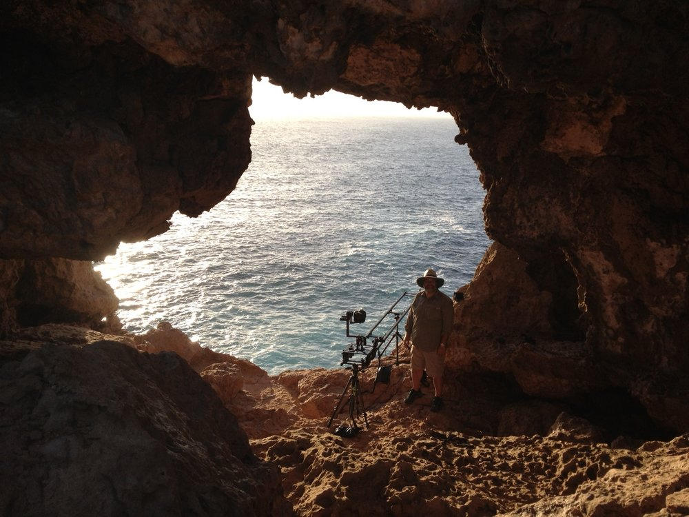 On location at the Western most point of Australia - Steep Point (part of Sharks Bay).