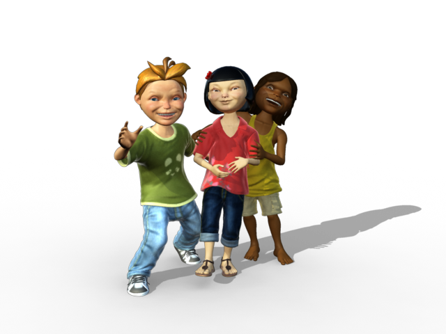 We produced over nine minutes of 3D character animation for the final show.