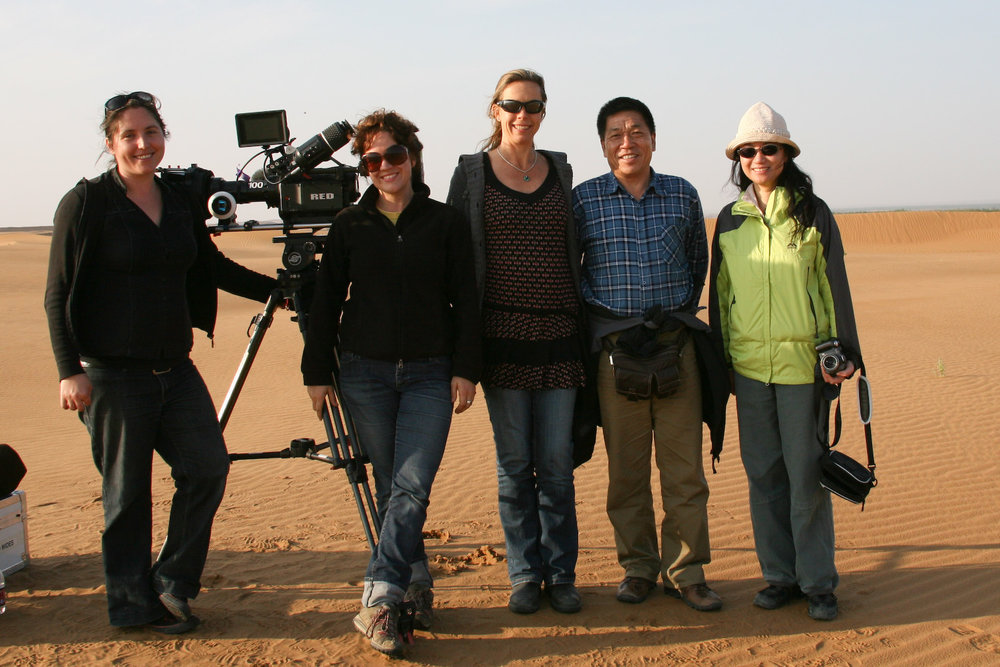 The SISTERS crew on location in the heart of China.