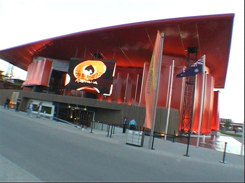 Main Entrance to the 2000 Australian Pavilion.