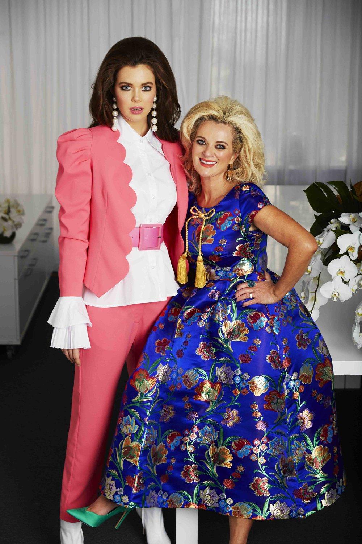 Fashion designer Trelise Cooper and model