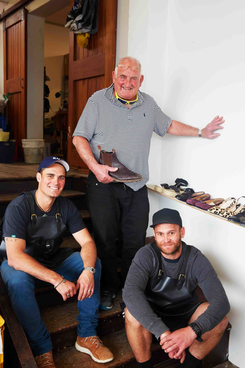 Shoe repairers The Gemmells family