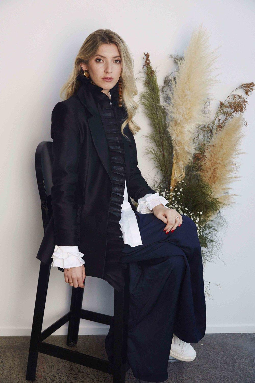 Fashion designer Maggie Marilyn