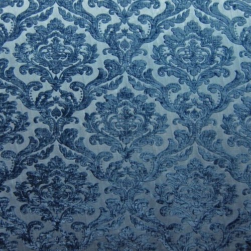 Damask velvet color denim