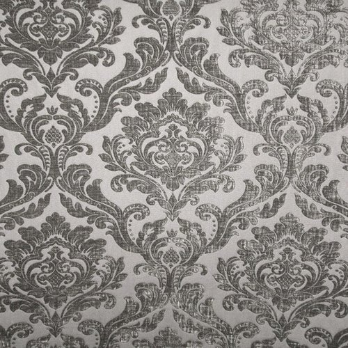 Damask velvet color grey