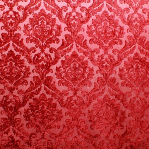 modmix studio pink red damask velvet color red