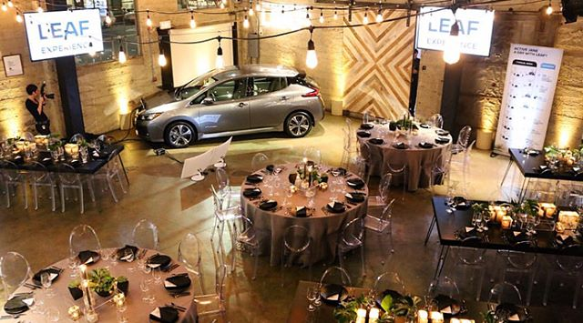 Vroom vroom! 🚙  #tbt to the San Diego launch of the all new @nissan Leaf! It was 💯 electric, 💯 fun! 😎 . . . Production/Audio/Video/Lighting by @ambereventprod | Design by @invitingoc | Rentals from @adorefolklore @chiavarichairrentals @sigpartyrentals @modmixstudio