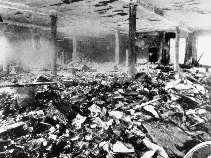 Remnants after the Triangle Shirtwaist Factory Fire. (  Smithsonian   )