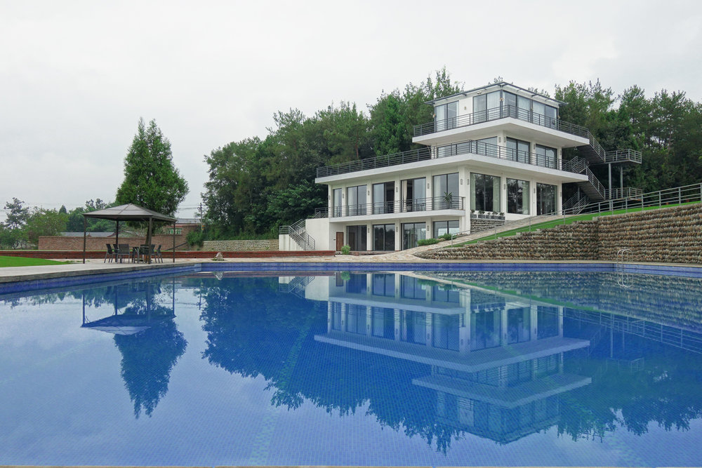 Outside view from swimming pool