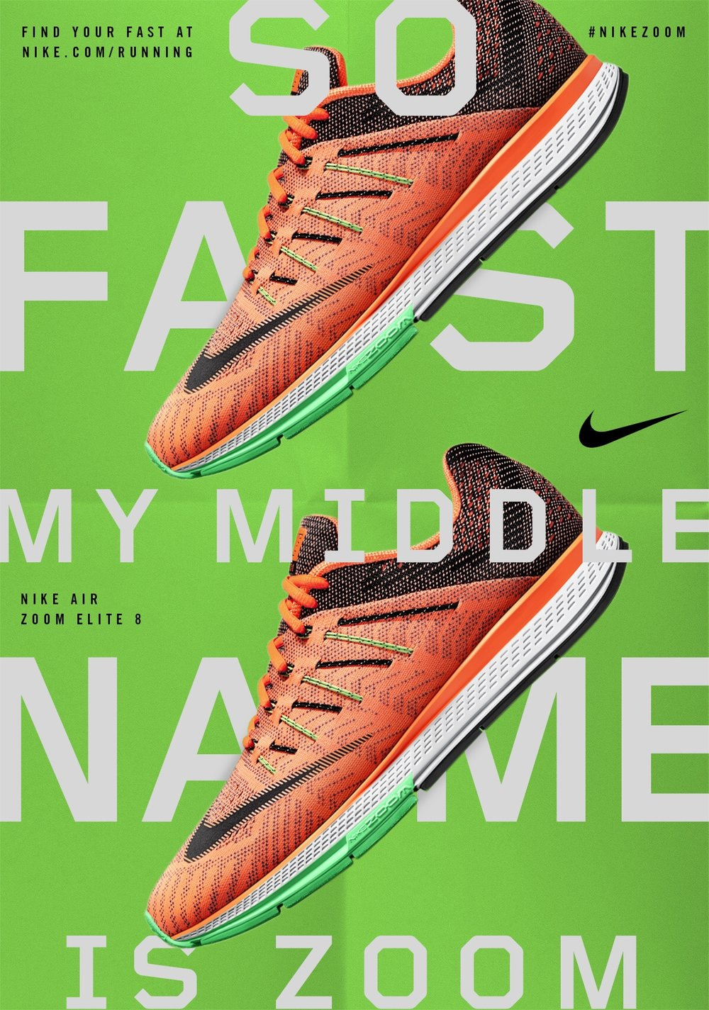 Poster series for Nike Zoom campaign